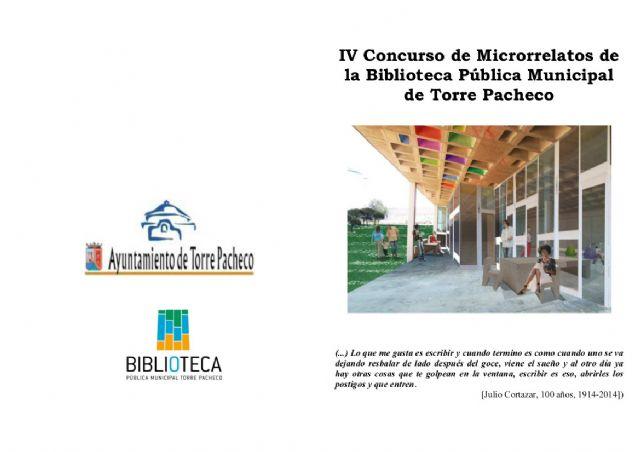 La Biblioteca de Torre-Pacheco convoca el IV Concurso de Microrrelatos - 1, Foto 1