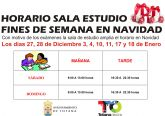 La Sala de Estudio, del Centro Sociocultural 'La Cárcel', amplía su horario de los fines de semana en Navidad