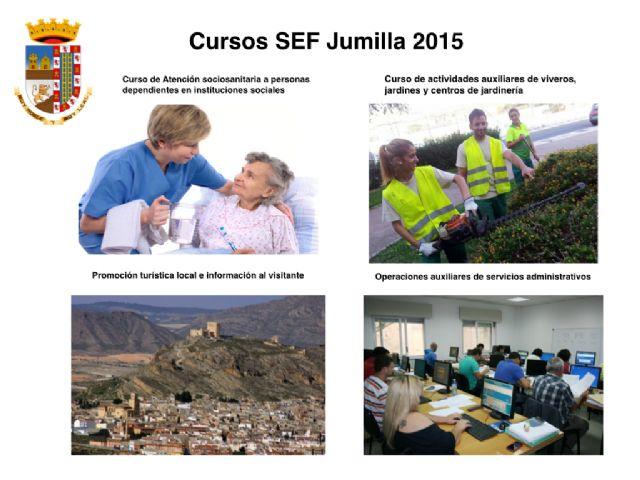 El próximo viernes finaliza el plazo de inscripción para los cuatro cursos de formación que el SEF realizará en Jumilla para personas desempleadas - 1, Foto 1