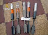 La Guardia Civil destruye 75 artefactos explosivos y dos kilos de material explosivo durante 2014