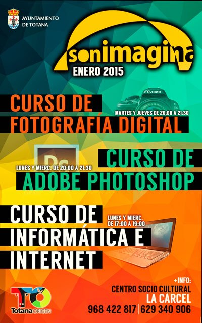 Open Enrolment for courses Computers, Photography and Photoshop sonImagina of association