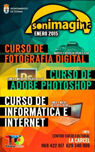 Abierto el plazo de inscripci�n para los Cursos de Inform�tica, Fotograf�a y Photoshop de la asociaci�n sonImagina, Foto 1