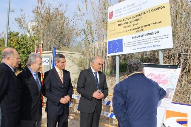 El presidente Garre inaugura dos nuevos colectores que completan el saneamiento integral de Albudeite y Campos del Río - 3, Foto 3
