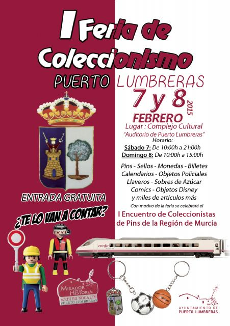 Puerto Lumbreras acogerá la I Feria de Coleccionismo en el Complejo Cultural Auditorio los días 7 y 8 de febrero - 1, Foto 1