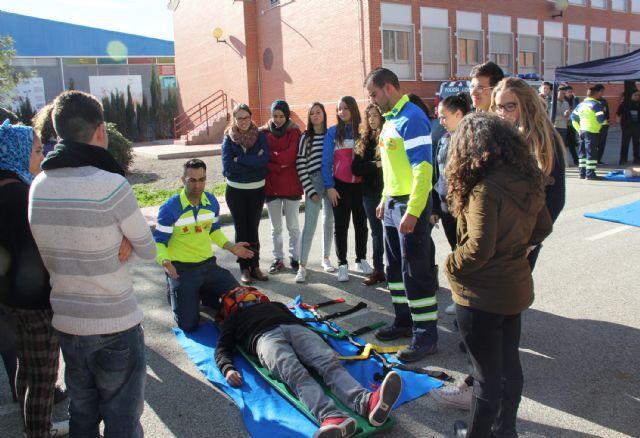 EL I.E.S. Rambla de Nogalte acoge una jornada de seguridad vial organizada por la Policía Local de Puerto Lumbreras - 1, Foto 1