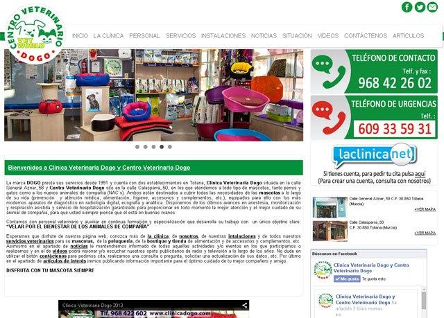 Dogo Veterinary Clinic presents its new website