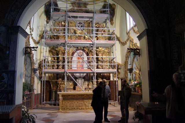 Comienzan las obras de la restauración del Retablo Mayor del Santuario de Santa Eulalia - 1, Foto 1