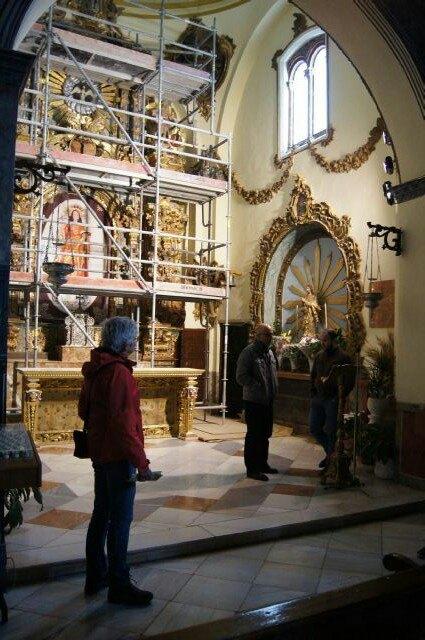 Comienzan las obras de la restauración del Retablo Mayor del Santuario de Santa Eulalia - 4, Foto 4