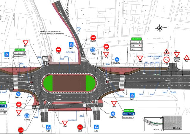 """The BORM publishes the notice of contract works called """"Termination of improving intersection with a roundabout located at the junction of the road N-340 to the Rambla de La Santa"""""""
