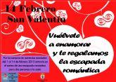 Presentación sorteo escapada romántica por las compras realizadas del 1 al 14 de febrero en comercios asociados
