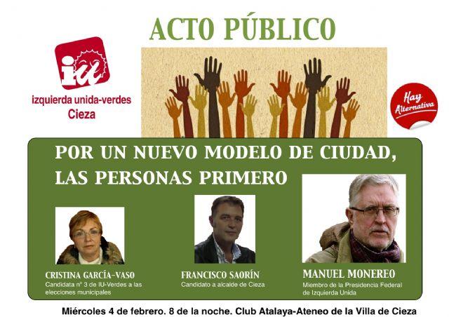 Manolo Monereo, dirigente federal de Izquierda Unida, abrirá la precampaña electoral de IU-Verdes en Cieza - 1, Foto 1