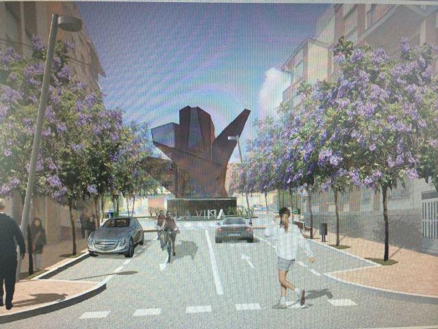 El monumento a la Vid albergará en su interior los dos centros de transformación que darán servicio a los nuevos edificios construidos en La Viña - 1, Foto 1