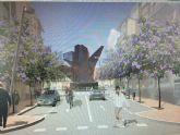 El monumento a la Vid albergará en su interior los dos centros de transformación que darán servicio a los nuevos edificios construidos en La Viña