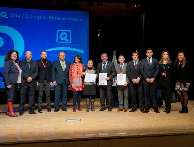 Once establecimientos de la Región reciben los certificados ´Q´ de Calidad Turística en Fitur - 1, Foto 1