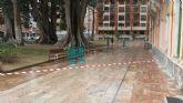 Cerrado el jardín de Floridablanca para evitar problemas por las fuertes rachas de  viento