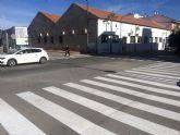 El Ayuntamiento de Ceutí refuerza la seguridad vial de sus arterias principales remarcando la señalización horizontal
