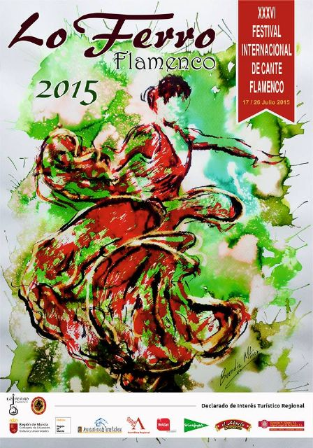 El pintor Antonio Buendía Martínez autor del cartel del Festival de Cante Flamenco de Lo Ferro - 1, Foto 1
