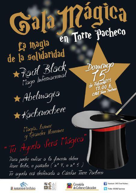 Gala mágica y solidaria este domingo en el CAES de Torre-Pacheco - 1, Foto 1