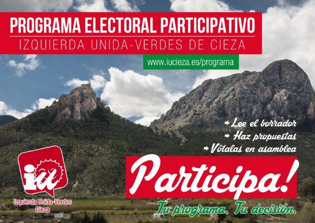 IU-Verdes de Cieza abre su programa electoral a la participación de la gente - 1, Foto 1