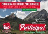 IU-Verdes de Cieza abre su programa electoral a la participación de la gente