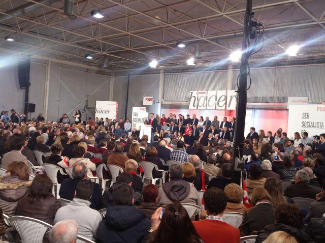 Pedro Sánchez se compromete con la Región de Murcia y envía un saludo a Alhama junto a Diego Conesa, Foto 2