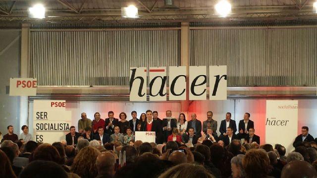 Pedro Sánchez se compromete con la Región de Murcia y envía un saludo a Alhama junto a Diego Conesa, Foto 3