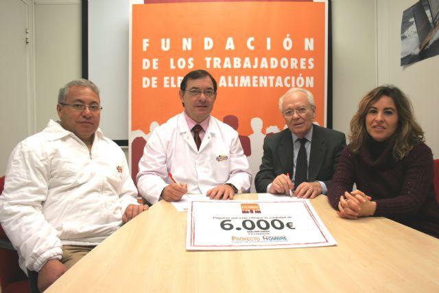 La Fundación de Trabajadores de ElPozo Alimentación dona 6.000 € a Proyecto Hombre, Foto 1