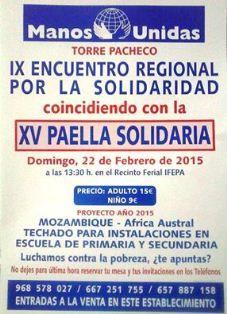 Manos Unidas de Torre Pacheco realiza este domingo su XV Paella Solidaria - 1, Foto 1