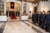 Los alumnos de la Academia General del Aire visitan el Palacio Consistorial cartagenero