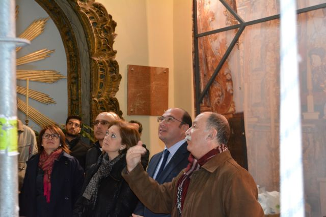 They return the original splendor Altarpiece of the Sanctuary of Santa Eulalia