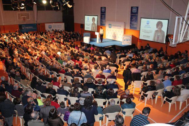 Más de 600 personas arroparon a Mª Ángeles Túnez en el acto de su presentación como candidata a la Alcaldía de Puerto Lumbreras por el PP - 1, Foto 1