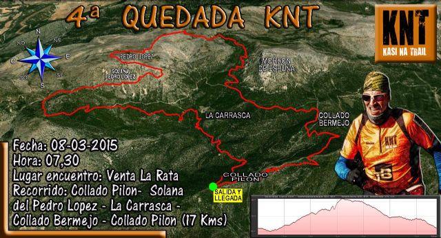 El próximo domingo tendrá lugar la 4ª quedada organizada por el grupo de Amigos de la Montaña KNT