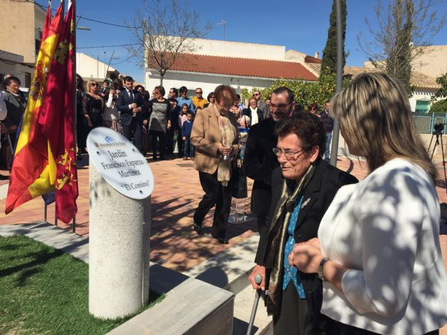 """El Ayuntamiento denomina un jardín en Balsicas en reconocimiento a Francisco Esparza Martínez """"El Comino"""" - 2, Foto 2"""
