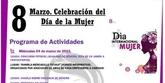 El D�a de la Mujer Trabajadora congrega charlas, actividades de fomento de la igualdad y el acto institucional de homenaje a las mujeres totaneras