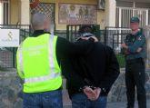 La Guardia Civil localiza y detiene a un delincuente reclamado por cuatro juzgados de la Región