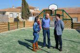 Pozo Aledo disfruta ya la una pista multideporte en el centro de la localidad que demandaban los vecinos