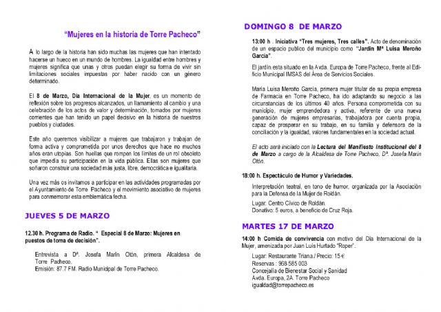 El Ayuntamiento de Torre-Pacheco denominará un jardín con el nombre de la farmacéutica pachequera, Mª Luisa Meroño, con motivo del día de la mujer - 3, Foto 3