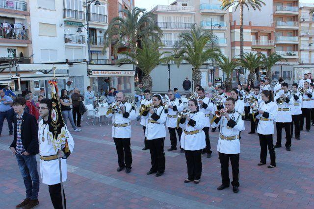 El I Certamen de Marchas Procesionales reúne a seis bandas de cornetas y tambores en el Paseo Marítimo, Foto 1