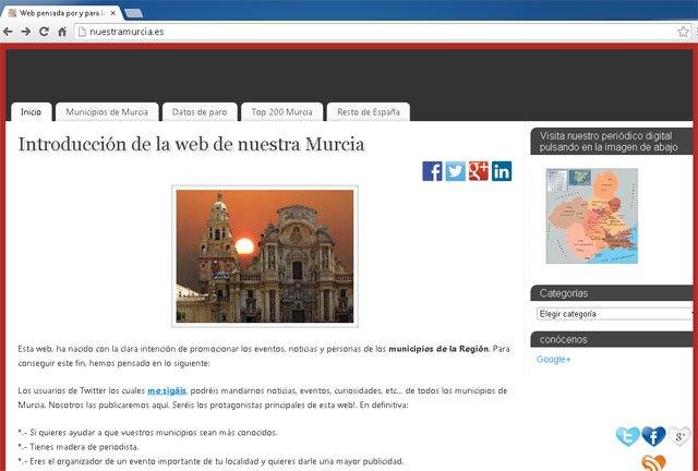 NuestraMurcia.es continúa su andadura para dar a conocer la región de Murcia - 1, Foto 1