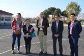Educación remodela una de las pistas deportivas del Centro de Educación Infantil y Primaria La Paz de San Javier