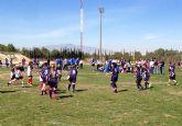 Más de 200 jugadores disfrutaron en Las Torres de Cotillas del torneo de escuelas de rugby de la Federación