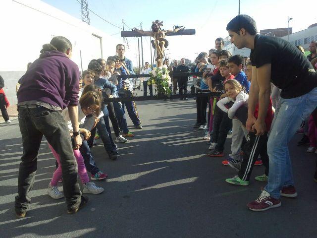 Celebrada la V Convivencia de Jóvenes Cofrades de Archena con procesión infantil incluida en el Polideportivo Municipal - 1, Foto 1