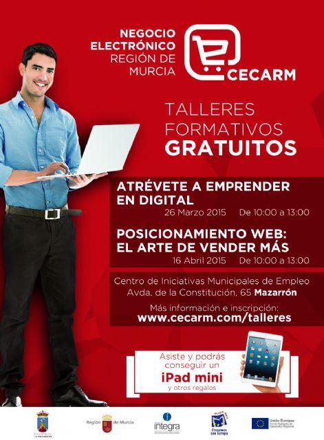 Desarrollo Local y CECARM programan dos nuevos talleres para emprendedores, Foto 1
