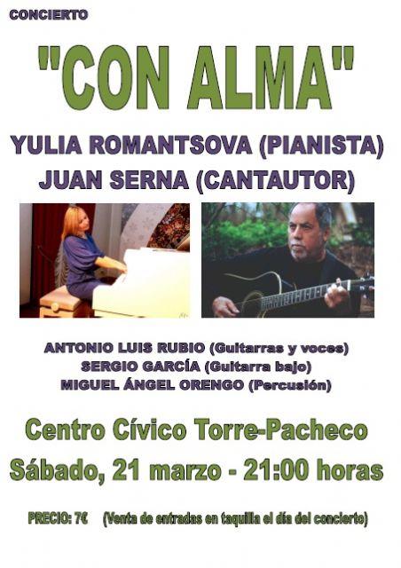 """Juan Serna y Yulia Romantsova presentan """"Con alma"""" este sábado en el Centro Cívico de Torre-Pacheco - 1, Foto 1"""