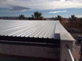 Renovada la cubierta del Centro Cívico del barrio del Carmen de Alguazas