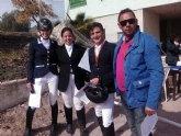 Éxito de dos totaneras en el Concurso territorial de doma clásica 2015, que tuvo lugar en Lorca