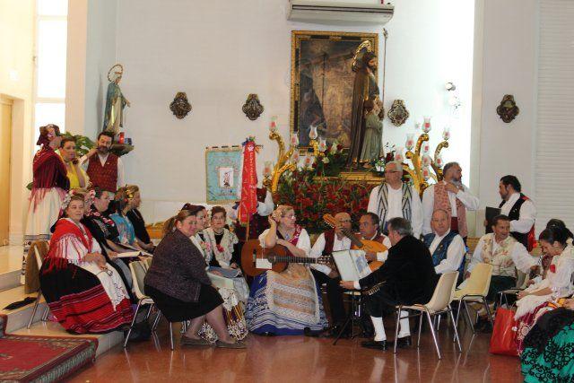 Una misa huertana rinde honores al patrón de Puerto de Mazarrón, Foto 1