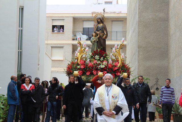 Una misa huertana rinde honores al patrón de Puerto de Mazarrón, Foto 5