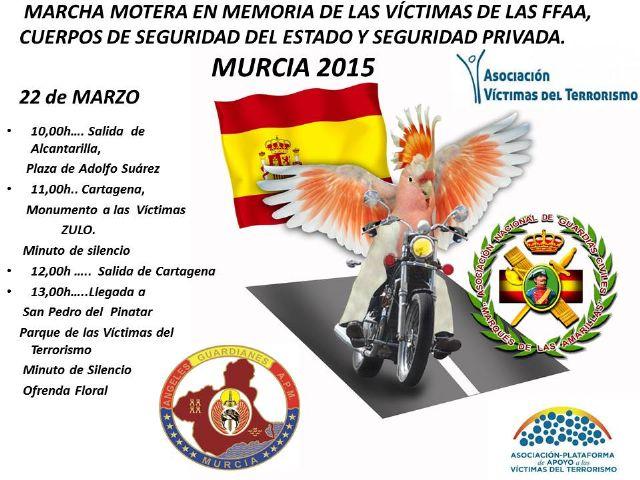 El próximo domingo, desde la plaza Adolfo Suárez de Alcantarilla, saldrá la IV Marcha Motera en memoria de las Víctimas del Terrorismo - 1, Foto 1