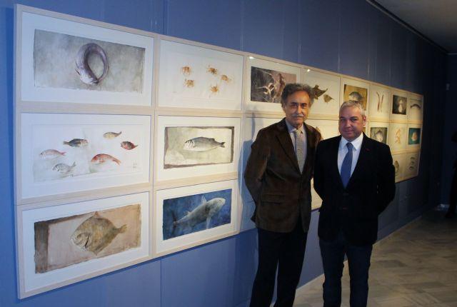 Pedro Cano fascina a mazarroneros y visitantes con su genial homenaje al mar, Foto 1
